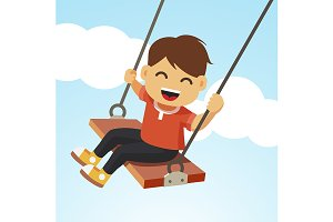 Swinging kid