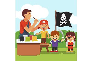 Pirate costume and painting party