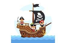 Kids pirate ship