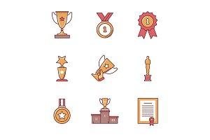 Award winner icons