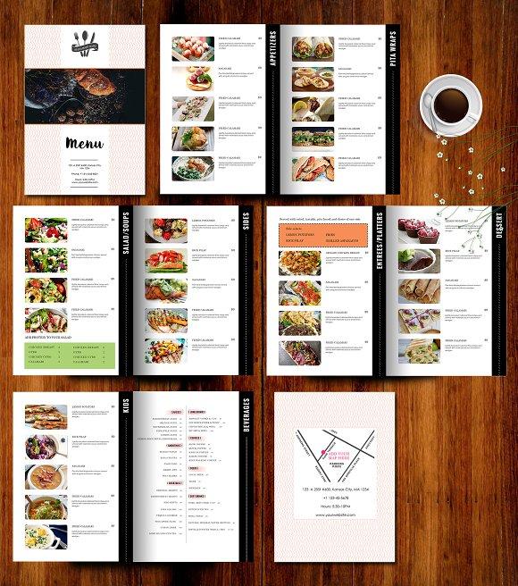 restaurant menu template brochure templates creative market