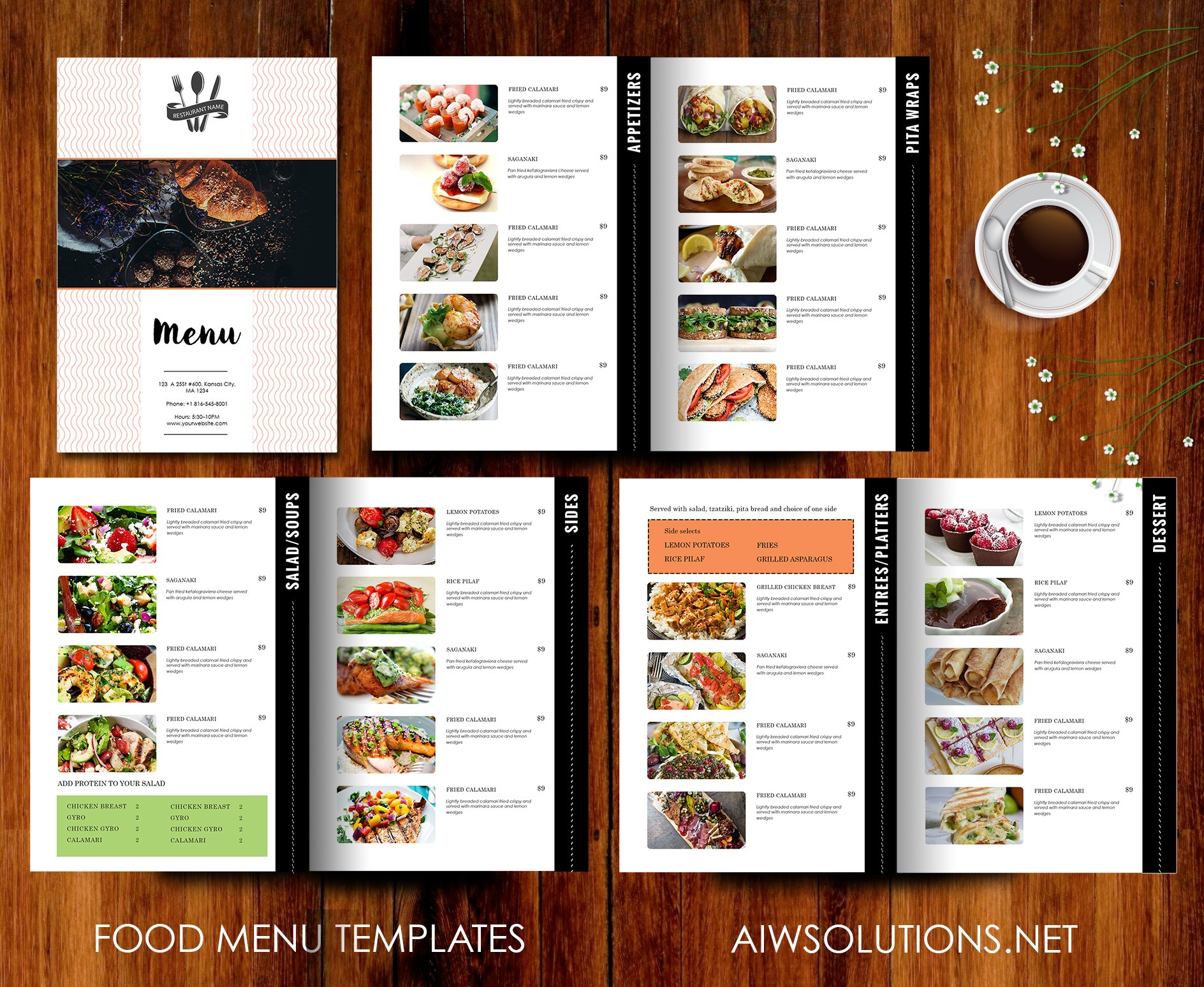 Restaurant menu template brochure templates creative