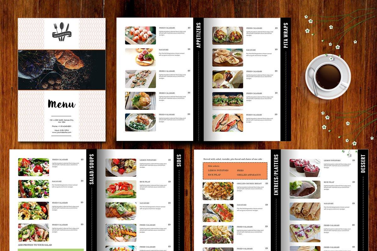 templates for restaurant menus.html
