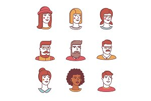 Human faces icons