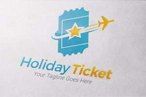 Holiday Ticket Logo Templates