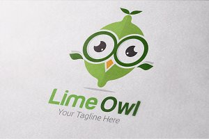 Lime Owl Logo Templates