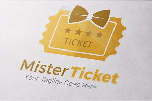 Mister Ticket Logo Templates