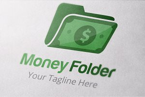 Money Folder Logo TEmplates