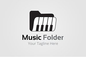 Music Folder Logo Template