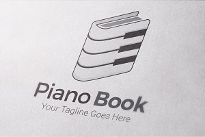 Piano Book Logo Template