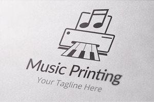 Music Printing Logo Template