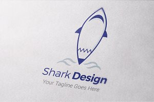Shark Design logo Template