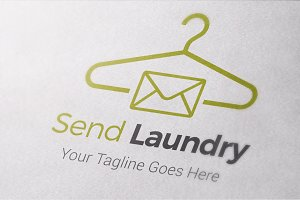 Send Laundry Logo Template