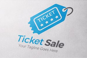 Ticket Sale Logo Template