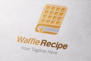 Waffle Recipe Logo Template
