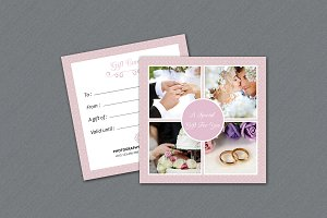 Photographer Gift Card Template-V09