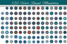 126 Vector round Mandalas