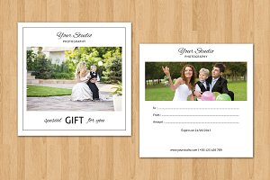 Photographer Gift Card Template-V10