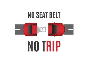 Safety belt conceptual background.