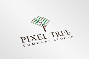 Exclusive Pixel Tree Logo Template