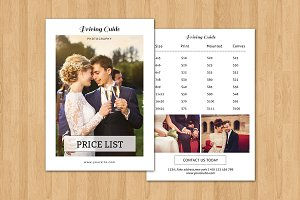 Photography Price List Template-V319