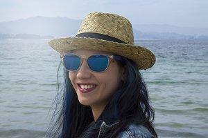 hipster girl portrait