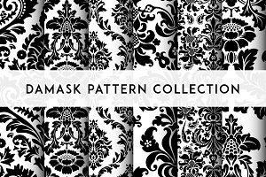 Seamless Damask Patterns