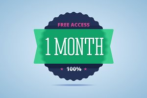 1 month free access badge