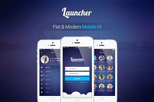 Launcher | Flat Mobile UI