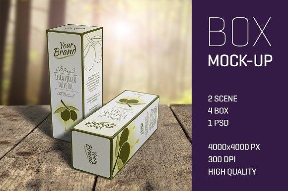 Download Olive Oil or Wine Box Mockup