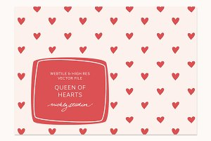 VECTOR & PSD Hearts tile & pattern