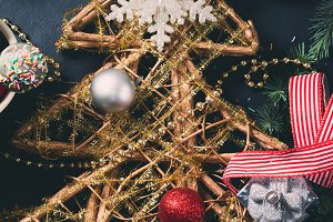Christmas background. Vertical image