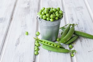 green peas in buscet