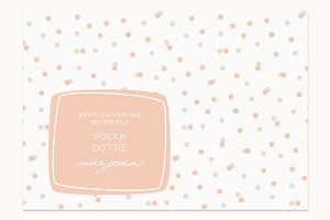 VECTOR & PSD Polka Dot tile & patter
