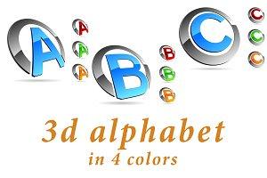 ABC - color 3d alphabet