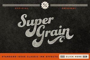 SuperGrain | Retro PSD Ink Effect
