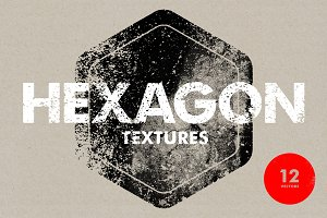 Hexagon Textures - 12 Vectors