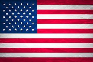 Grunge USA Flag.