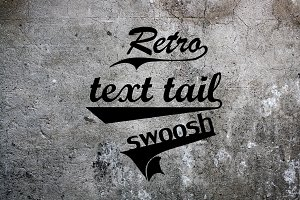 57 Retro Text Tails Swoosh