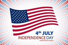 America, 4th of July card