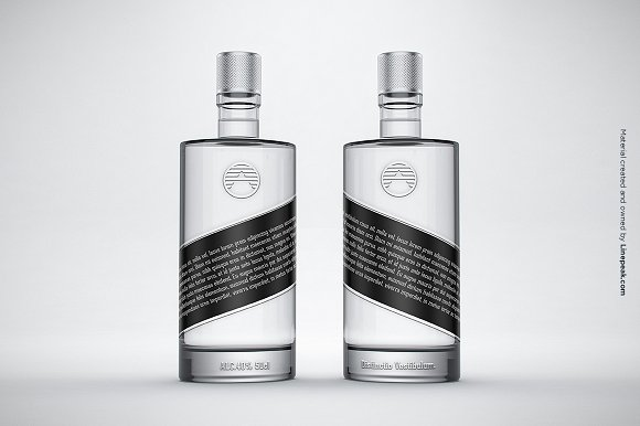 Free Vodka Gin Bottle Mock-up no.4