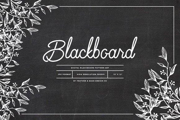 Blackboard Pattern Set