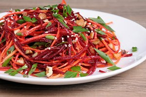 Salad of beets and carrots