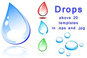 Drops - set of color templates