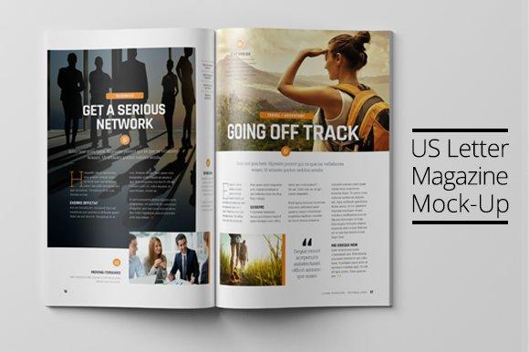 Download US Letter Magazine Mock-Up