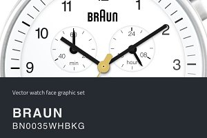 Watch face vector drawing- BRAUN