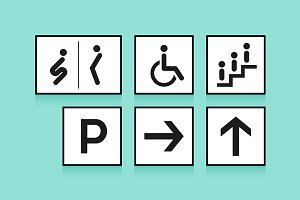 Set of icon signs