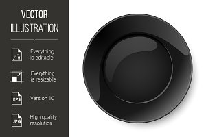 Round black plate