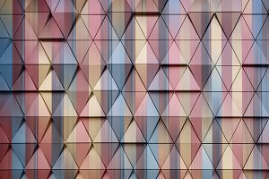 abstract architectural pattern 3D illustration