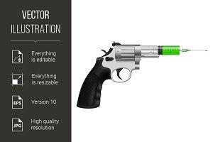 Syringe in revolver